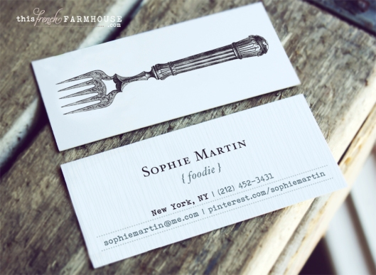 Wednesday Giveaway { foodie calling cards }