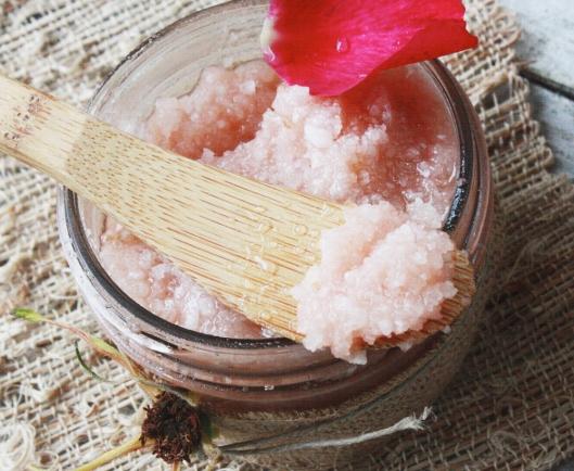 This French Farmhouse | Rose Sea Salt Body Scrub