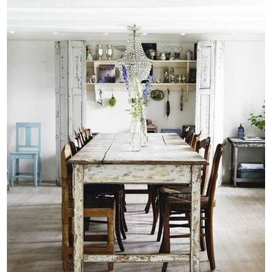 Eclectic Dining Room This French Farmhouse Cane Back Chairs