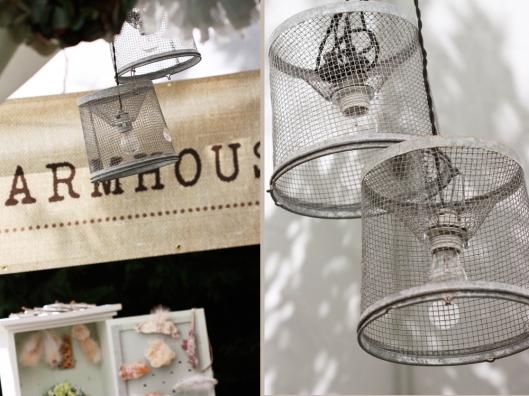 vintage fishing basket lights