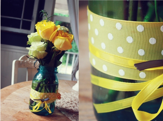 yellow and gray party. first birthday champagne brunch