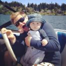 Sage's first boating trip. July.