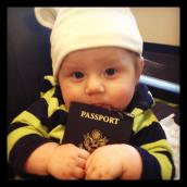 First plane ride. Manchester, England, February.
