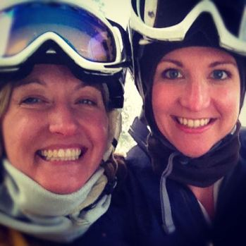 Skiing at Whistler, BC with Leigh.