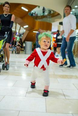 Sage's Oompa Loompa Costume. October. Photo by Quang Sun.