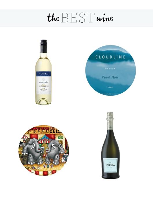 1. Nobilo Savinon Blanc // New Zealand. 2. Cloudline Pinot Noir // Oregon 3. Michael and David Petit Petite // California