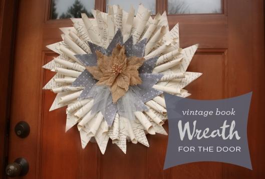 shabby chic wreath book