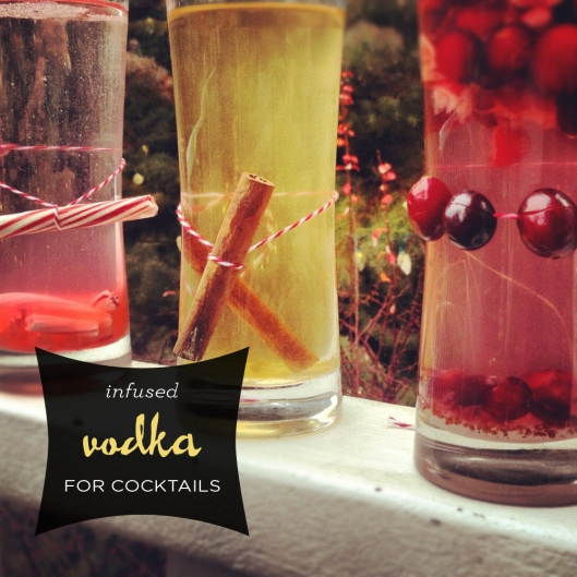 holiday infused vodka