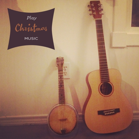 And last but not least, I learned to play a couple Christmas songs on my guitar. When Justin's Grandpa Vernor kindly gave me his 100 year old banjo that he bought in Hawaii in the fifties. Such a meaningful  gift and I can't wait to tune her up and learn to play!