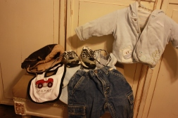 $20 // Big box of boys clothes ages 3-6 months. Shoes, hats, pants, jammies, onsies, hoodies etc.